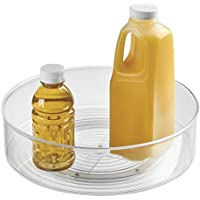 condimentos gris claro Elegante estante para especias mDesign Especiero giratorio para cocina ingredientes de hornear o conservas Bandeja giratoria redonda para aparador o armarios de cocina