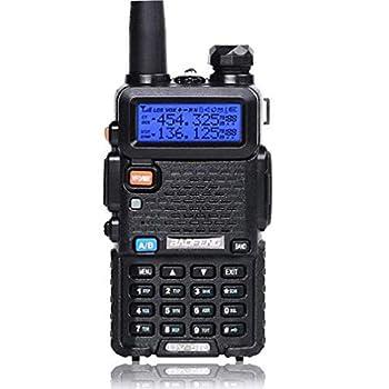 Baofeng UV-5R Two Way Radio Dual Band 144-148/420-450Mhz Walkie Talkie 1800mAh Li-ion Battery Black