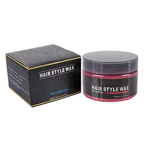Wachs Haarfärbemittel, Gelee Wasser Gel Wachs für das Haar, Fixierung der extra starken Stilsalbe Einwegfärben für Haarfärbemittel Schlamm Frisur Modelliercreme 120g(Red)
