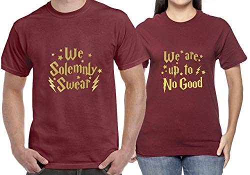 Harry Potter Shirts Inspired Couple Matching T-Shirt Funny Tee Gift for Him Her Movie T Shirts (Garnet)