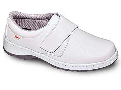 Milan-SCL Liso Color Blanco Talla 38, Zapato de Trabajo Unisex Certificado CE EN ISO 20347 Marca DIAN