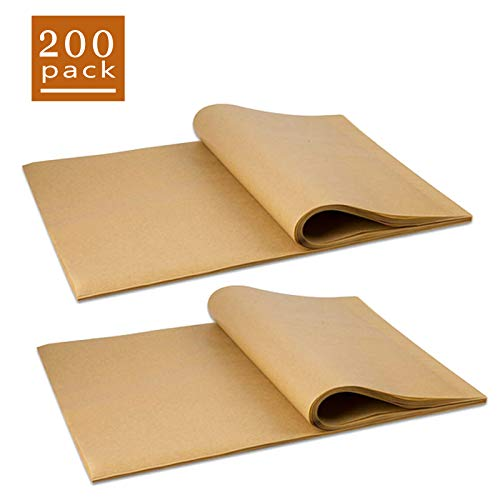Parchment Paper Baking Sheets, 200 Pcs Non-Stick Precut Baking Parchment, Paper Squares, Perfect for Baking Grilling Air Fryer Steaming Bread Cup Cake Cookie and More (7',8',9')