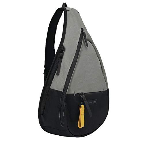 Sherpani Esprit, Nylon Sling Bag, Shoulder Sling Bag, Crossbody Sling Backpack for Women Fits 7 Inch Tablet, RFID Protection (Flint)