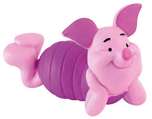Bullyland 12344 - Spielfigur, Walt Disney Winnie Puuh, Ferkel, ca. 5,5 cm groß, liebevoll handbemalte Figur, PVC-frei, tolles Geschenk für Jungen und Mädchen zum fantasievollen Spielen
