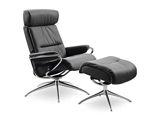 Stressless Sessel Original Tokyo Low Back mit Kopfstütze und Hocker