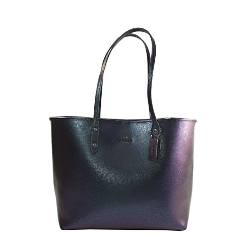 Coach Hologram City tote in pebble leather F22550