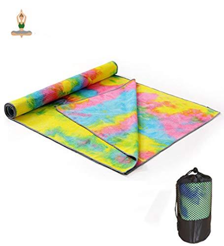 Avril Tian Asciugamano da Yoga, Antiscivolo, Super Morbido, Assorbe Il Sudore, per Pilates, Palestra e Allenamento