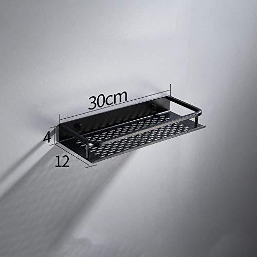 zyh1229 Badkamerkast, zwart, aluminium, wandmontage, vierkant, make-uptast, rek