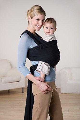 AMAZONAS Baby Tragetuch Jersey Sling black 0-9 Monate bis 9 Kg - 3