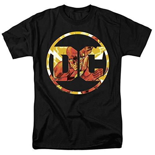 Flash DC Comics Logo T Shirt & Stickers (X-Large) Black