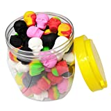 100pcs/can 3ml Silicone Containers Mini Skull...
