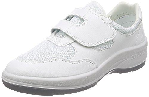 [ミドリ安全] 静電作業靴 JIS規格 クリーンルーム用 スニーカー エレパス ホワイト 23.5 cm 2E