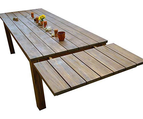 Grasekamp kwaliteit sinds 1972 verlenging 50 x 90 cm voor de rustieke houten tafel acacia tuintafel