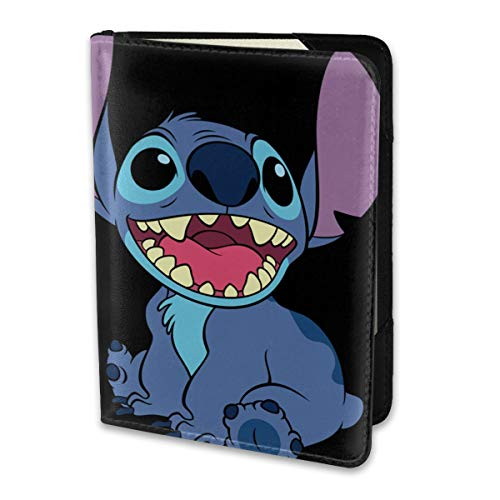 Passport Holder Cover Case Lilo Stitch Leather Travel Wallet For Women And Men