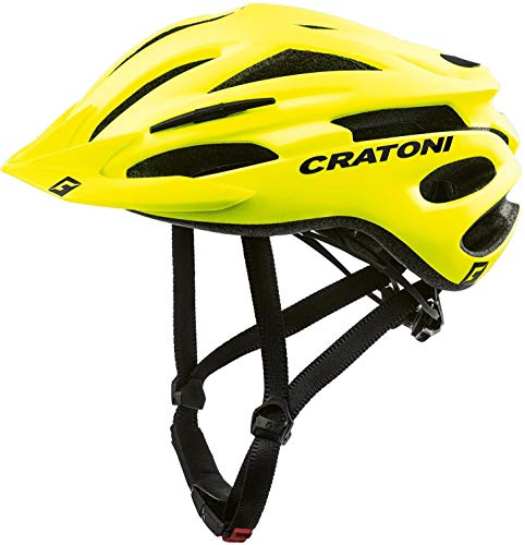 CRATONI - Casco Pacer MTB Amarillo neón Mate, Talla L/XL 58-62 Material...