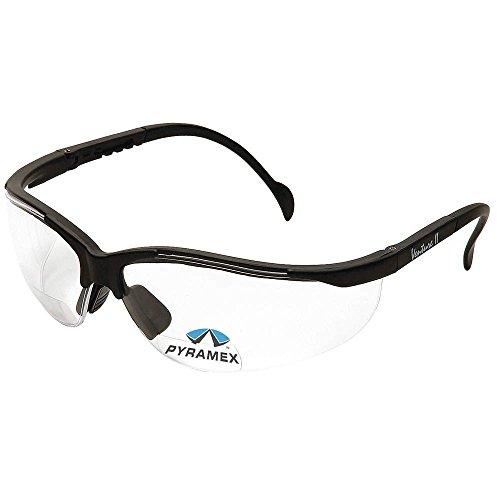 Pyramex claro bifocales lector de seguridad gafas, envolventes