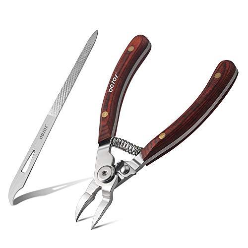 BEZOX Cortaúñas con mango de madera, juego de cortaúñas para uñas...