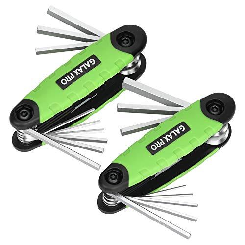 GALAX PRO Innensechskantschlüssel, 2 x Schlüssel, Metrische Schlüssel mit flachem Kopf (1,5mm-8,0mm) - F2301002501