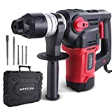 Rotary Hammer Drill 1500W, Meterk SDS PLUS 7.4J 4350BPM 0-880RPM with Safety Clutch