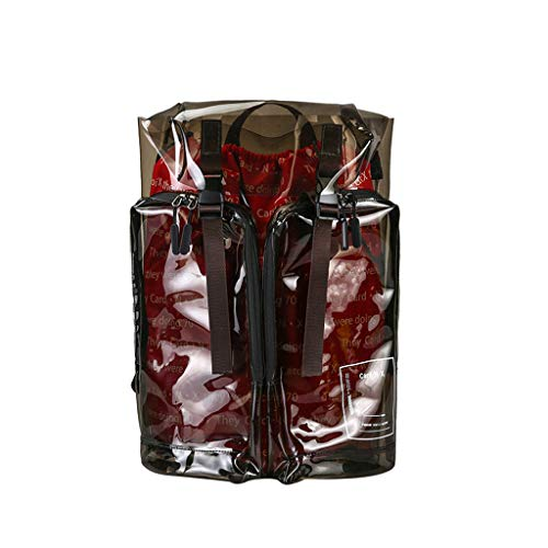 Goddesslili Clear Backpack, Huge Hiking Travel Backpack for Men Women Student