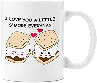 Love You A Little S'More | Coffee Mug 11 oz - Anniversary gifts for Her, Wedding Anniversary Gifts for Her, Birthday Gifts for Her, Perfect gift for Her, Romantic Gift for her, Cute Present for Him