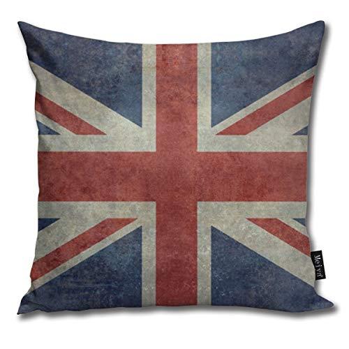 Federa per cuscino decorativa con bandiera inglese Union Jack, stile vintage retrò, idea regalo per casa, divano, letto, auto, 45,7 x 45,7 cm