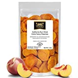 Traina Home Grown California Extra Fancy Sun Dried Peaches - No Sugar Added, Non GMO, Gluten Free, Vegan, Packed in Resealable Pouch (2 lbs)
