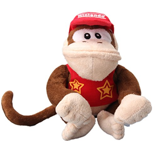 uiuoutoy Super Mario Bros. Diddy Kong Plush Toy Stuffed Animal Doll 6''