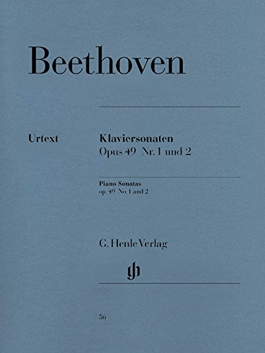 Two Easy Piano Sonatas G Minor Op 49 Number 1 And 2 (Beethoven)