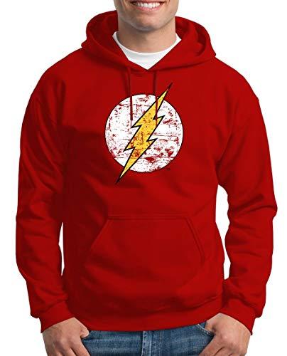 TShirt-People The Flash Logo - Sudadera con capucha para hombre rojo XXXXL