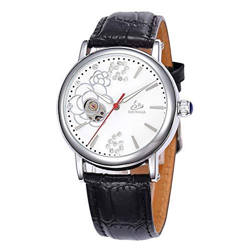 SJXIN Orologio meccanico di alta qualità, Shenhua/orologio meccanico automatico vuoto da donna (Color : 7)