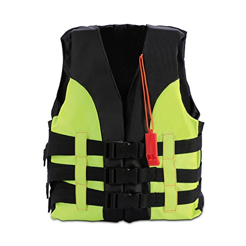 Child Classic Series Vest Life Jacket Type Personal Flotation Device Children Safety Swimwear with Whistle(5-12岁-Green)