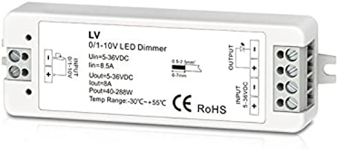 0/1-10V 1CH 8A Dimmable Switches Led Driver 1 Channel 0-10V Constant Voltage LED Dimmer Led Dimming Controller PWM Led Dimmer 5-36V