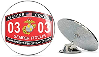 TG Graphics Light-Armored Vehicle (LAV) Officer Marine Corps MOS 0303 USMC US Marine Corps Military Steel Metal 0.75