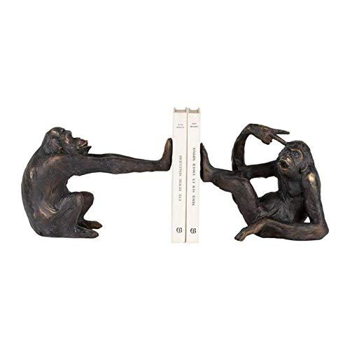 COTE TABLE Buchstützen Affe schwarz gold 42,5 x 10 x 17 cm