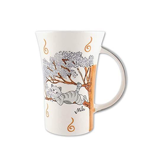 440s.de Mila Keramik-Becher, Coffee Pot, Oommh Katze Pure Relax | MI-82184 | 4045303821842