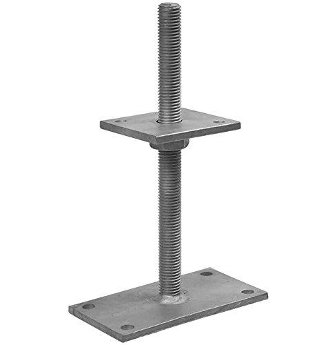 1 Stück profiBAUline Pfostenträger Form P/I auf Beton Höhenverstellbar Grösse M24x310 Höhe