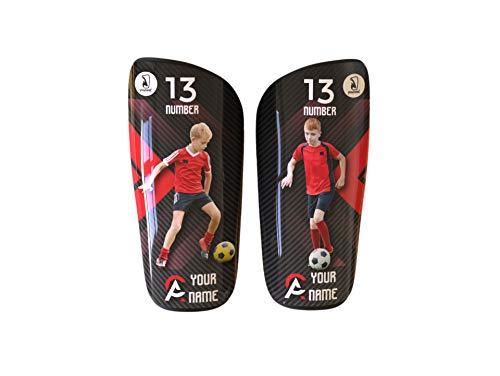 Younext Espinilleras Personalizadas para fútbol con tu Foto, Nombre y número