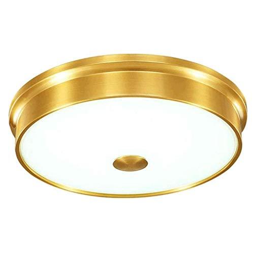 SPNEC Lámpara de Todos los Finos de Cobre de Techo Moderno y Sencillo atmosférica Cobre Iluminación Decorativa Fuerte y Durable