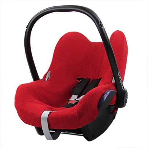 Bambini Mundo Funda de verano, colchón, funda de rizo para Maxi Cosi cabriofix rojo rojo