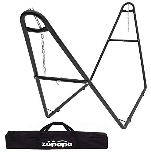 Zupapa 2 Person Steel Hammock Stand 500 lb Capacity, Portable Hammock Frame Stand Heavy Duty for 9...
