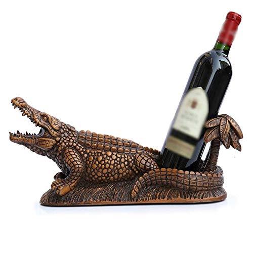 YIBOKANG Sencillo y Creativo Botella de Vino Botella de Vino Hogar Casa Creativa Estante de Vino Sala de Estar Cocodrilo Resina Botella Rack Personalidad Estante de Vino Decoración