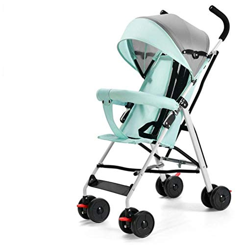 Baby stroller is ultra-light, portable, can sit, lie, and fold, simple shock absorber-[Sit only] Cool black model