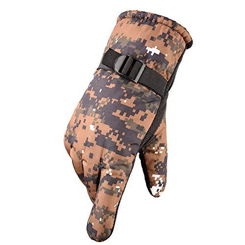 ddmlj Vollfinger Warme Camouflage-Handschuhe Outdoor-REIT-Bergsteigerhandschuhe rutschfeste Dicke Handschuhe@4