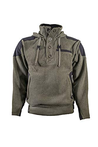Amabilis Men's Responder Hoody Pullover Hooded Sweatshirt, Moss Green - Small