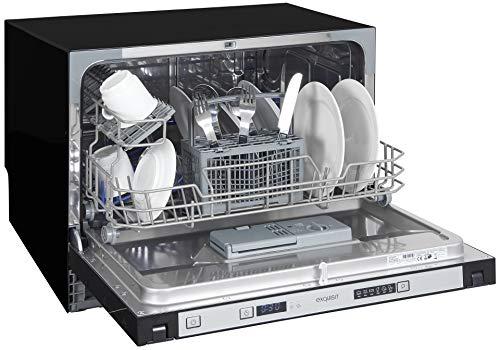 Exquisit Geschirrspüler EGSP 1060.1 EL | Vollintegriert, Einbaugerät | 6 Maßgedecke | Schwarz