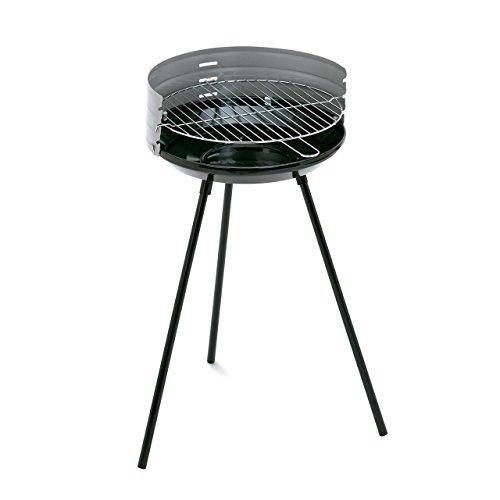 Algon AB23 Barbacoa, Altura de 66 cm, Color Negro, Cuerpo de Acero esmaltado