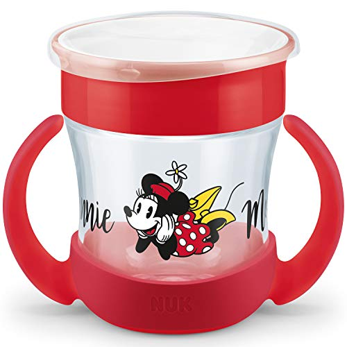 NUK Disney Mini Magic Cup Trinklernbecher | auslaufsicherer 360° Trinkrand | praktische Griffe | 160ml | BPA-frei | 6+ Monate | Minnie Mouse (rot)