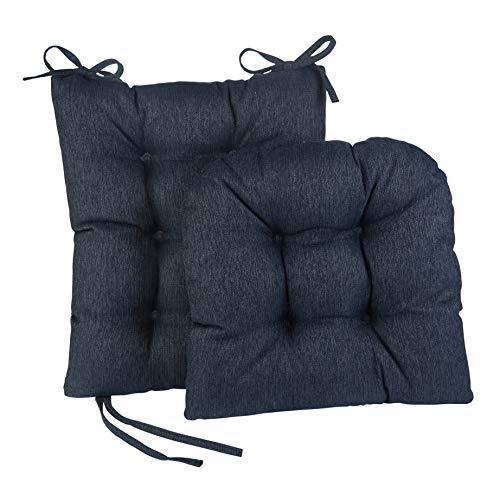 The Gripper Non-Slip Omega Jumbo Rocking Chair Cushions, Seat Measures: 17x17x3 inches. Back Measures: 17x21x3 inches, Indigo