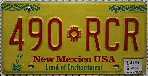 Nummernschild New Mexico Kennzeichen US License Plate USA Blechschild